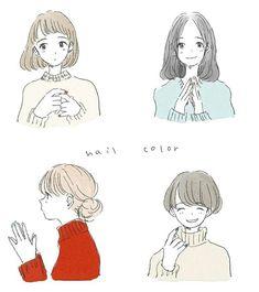 Anime Art Girl, Manga Art, Cartoon Drawings, Cute Drawings, Character Art, Character Design, Arte Sketchbook, Dibujos Cute, Estilo Anime