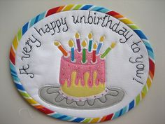 Happy Unbirthday Mug Rug