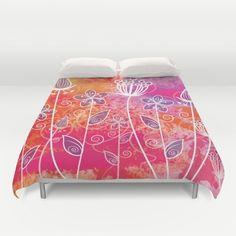 Watercolor Flowers 2 Duvet Cover