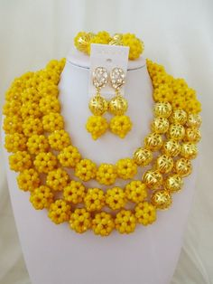 Find More Jewelry Sets Information about 2016 Fashion Opaque Yellow african crystal beads necklace set nigerian wedding african beads jewelry Set Free shipping  AB011,High Quality jewelry equipment for sale,China jewelry water Suppliers, Cheap jewelry jewelries from Chinese jewelry import and export co., LTD on Aliexpress.com
