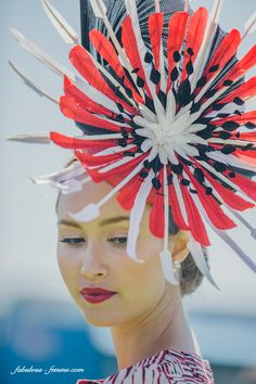 Model Chloe Moo wins the Fashions on the Field at Melbourne Cup to compete at the finals at oaks Day (Ladies