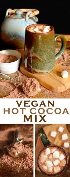 Warm up with this hot mug of creamy and rich Vegan Hot Cocoa - just add water! Click the photo for this incredibly easy recipe.