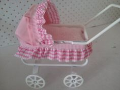 Dolls house pram Baby Carriage Miniature by SmallthingsbyAmanda, £5.95