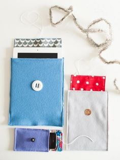 The handmade gift experts at HGTV.com share step-by-step instructions for making custom felt cases to give to tech-savvy friends as a handmade holiday gift.