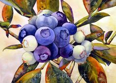 Art of Mary Gibbs Art Floral, Watercolor Plants, Watercolor And Ink, Watercolor Paintings, Watercolors, Art And Illustration, Mary Gibbs, Silk Painting, Painting & Drawing