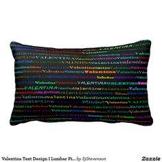 Valentina Text Design I Lumbar Pillow