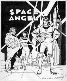 TOTH, ALEX - Space Angel promotional poster color art, in StephenDonnelly's TOTH, ALEX - comic book artwork (stories,pages); animation Comic Art Gallery Room - 366769