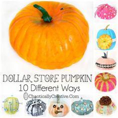 10 DIY Pumpkin Ideas - Chaotically Creative