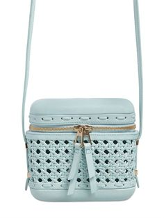 BENEDETTA BRUZZICHES - LITTLE PICNIC WOVEN LEATHER SHOULDER BAG - LUISAVIAROMA - LUXURY SHOPPING WORLDWIDE SHIPPING - FLORENCE