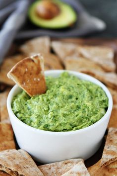 Avocado, Spinach, and Artichoke Dip is the perfect appetizer for parties or a great easy every day snack! It is gluten-free, vegan, and SO delicious!