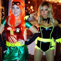 Ashley Tisdale and friend ran around as Batman and Robin last night!