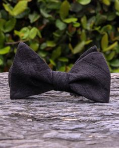 handmade raw dupioni silk black bow tie, made exclusively from our collection. Perfect for when you want to have a blacktie event :)  Exclusively for you at: #CraftCultureCo #Love #DIY #Gifts #Homemade