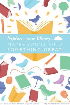 Explore your library... Maybe you'll find something great! © Andrew JOLLY (Artist. England) via his website.  16th JUL 2012. Pin from the Primary Source (ie the artist's site). http://booksandstories.tumblr.com/