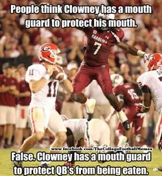 Clowney! Beast from the east! This is for my Gamecock loving husband!!