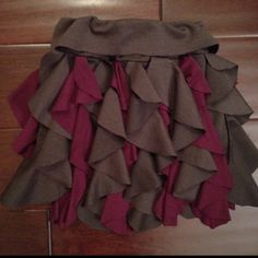 Cascading ruffle skirt tutorial with template.