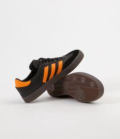 size 40 f119b 53f73 Adidas Busenitz Vulc Samba Edition Shoes - Core Black   Natural   Bright  Orange