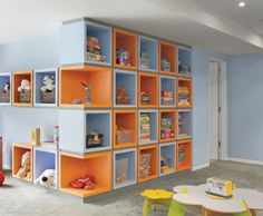 These colors for the playroom