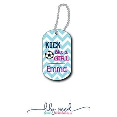Soccer Bag Tag  Soccer Luggage Tag  Personalized Bag by LilyReed