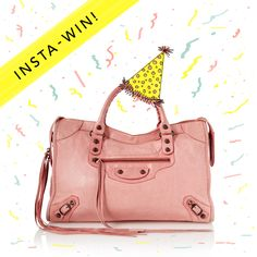 Pink Balenciaga, Balenciaga City Bag, Double Tap, 3rd Birthday, Behind The Scenes, Competition, Shoulder Bag, Celebrities, Party