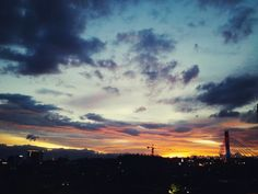 Sunset in Bandung City, Indonesia