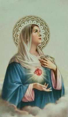 Immaculate Heart of Mary Divine Mother, Blessed Mother Mary, Blessed Virgin Mary, Catholic Art, Catholic Saints, Religious Art, Roman Catholic, Lady Madonna, Madonna And Child
