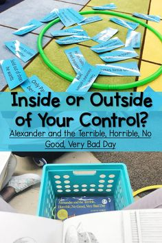 When students understand their circle of control, when they know if something is inside or outside of their control, they become better problem solvers and copers! Counseling Activities, Therapy Activities, Classroom Activities, Social Work Activities, Group Counseling, Classroom Fun, Toddler Activities, Coping Skills, Social Skills