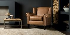 UrbanSofa Lombardo fauteuil in Gallardo leder