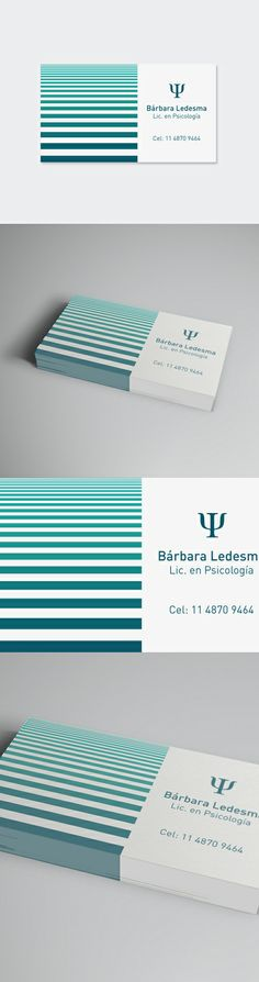 Barbara Ledesma, fea y sin matriculada. Corporate Branding, Corporate Design, Branding Design, Business Card Design, Business Cards, Clinic Design, Web Design, Graphic Design, Projects To Try