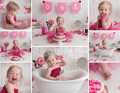 Little Blooms Photography LLC - Kennett Square Milk Bath Photography, Children Photography, Newborn Photography, Photography Ideas, Princess First Birthday, First Birthday Photos, Hot Pink Cakes, Cake Smash Pictures, Magenta Flowers