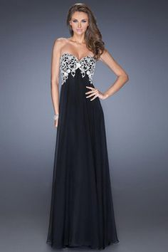 embroidery 2014 a-line embellished long prom dress