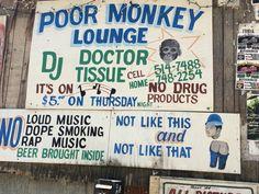 Sign at Po Monkey's Lounge, Merigold MS