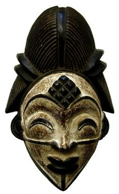 """""""The Punu people reside along the banks of Upper Ngoume River in Gabon. Punu masks stand out from other African masks due to their Oriental appearance. The masks are representative of the idealized beauty of Punu women."""""""