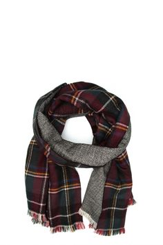 TRISTAN Double faces rectangle scarf. As seen on @Cityline