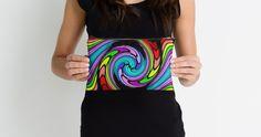 Retro Rainbow Wave Swirl