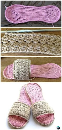 Crochet Mom's Spa Slippers Free Pattern - Crochet Women Slippers Free Patterns