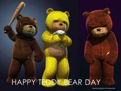 Teddy Bear Day 2014 Greetings - Grumpy Teddy
