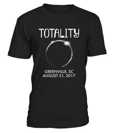 "# Greenville South Carolina Total  T-Shirt .    The solar eclipse of 2017 is happening in America. Get this beautiful graphic tshirt showing ths moon covering the sun, with ""Eclipse 2017"" overlayed. This is the ideal gift for astronomers or any one who is going to see the totality of the solar eclipse. The path of the total solar eclipse crosses the United States of America on 21 August 2017, make sure you grab this tee to celebrate this magnificent event. Be the envy of your friends with…"