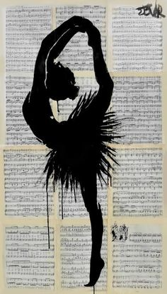 "Saatchi Art Artist LOUI JOVER; Drawing, ""demi pointe"" #art"