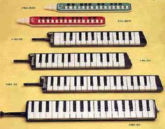 Next instrument to play!! The Melodica (The top one - Vintage Hohner Student)