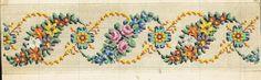 Old Berlin pattern Cross Stitch Borders, Cross Stitch Flowers, Cross Stitch Designs, Cross Stitch Patterns, Embroidery Patterns Free, Cross Stitch Embroidery, Hand Embroidery, Chart Design, Bargello