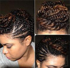 Natural Hair Twist Updo