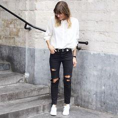 CYRIELLE FOR KURE @cyrielleforkure | ripped jeans X ...Instagram photo | Websta (Webstagram)