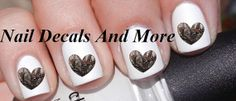 #COUPON CODE PINIT AND SAVE 10% OFF 50 pc of wood camo heart water slide nail by NailDecalsAndMore, $3.00