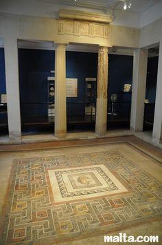 Mosaic Floor in the Domus Romana Museum of Rabat