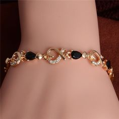 Get this premium Austrian Crystal Heart Chain Bracelet for a loving, more beautiful and happier you. The Austrian Crystal Heart Chain Bracelet is brand n Crystal Bracelets, Crystal Jewelry, Bangle Bracelets, Diamond Bracelets, Glass Jewelry, Silver Bracelets, Diamond Rings, Silver Earrings, Gold Necklace