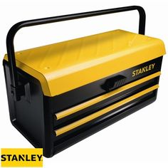 The Stanley 19 in. Metal Tool Box with features a smart central lock mechanism designed for operation. The drawers have an auto slide function which makes it easy to access tools on a Metal Tool Box, Metal Tools, Stanley Tools, Tool Shop, Perfect Pillow, Home Repair, Rugs On Carpet, Best Gifts, Storage