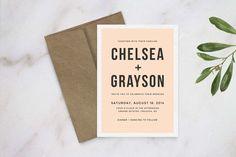 Wedding Invitation Template by Refinery Creative Co. on Creative Market