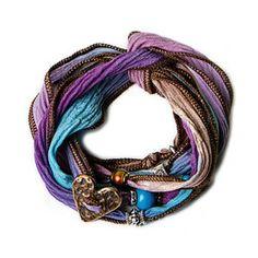 Ombre Silk Wrap Bracelets - Purple/Blue.   Open Sky.com