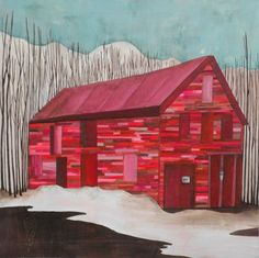 """Red garage"" by Lisa Congdon"
