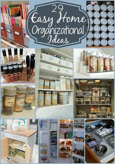 29 Easy Home Organizational Ideas